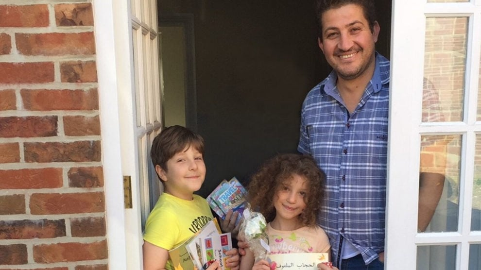 Syrian refugee family in Dorset