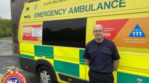 John Westbrook driving ambulances