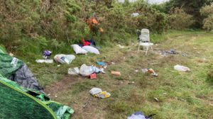 Mess left at Studland