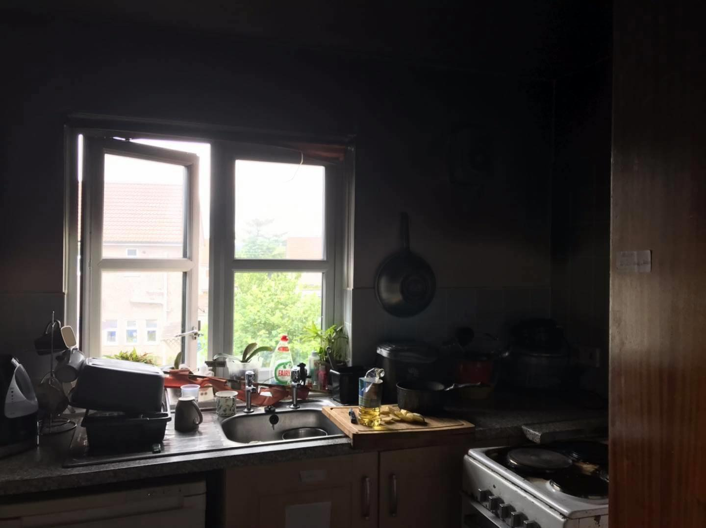 Burnt kitchen
