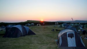 Eweleaze Campsite at sunset